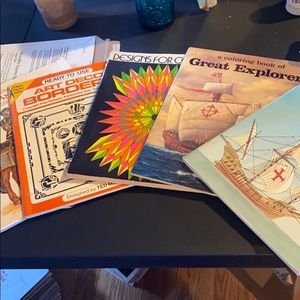 5 different coloring books